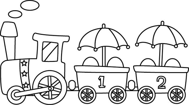 Free coloring and drawings Train that makes you laugh Coloring page