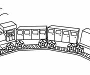 Coloring pages Train Toy