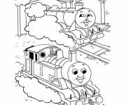 Coloring pages Trains in cartoon terminal