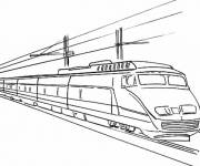 Coloring pages Ultra fast TGV train