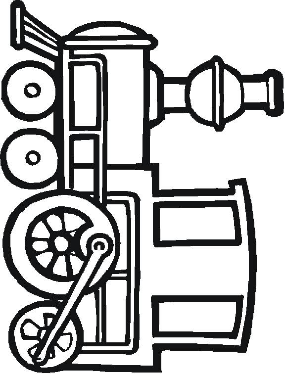 Free coloring and drawings Vector steam train Coloring page