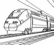 Free coloring and drawings Very fast train Coloring page