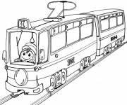 Coloring pages Magic tram for children