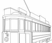 Coloring pages Maternal tram