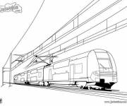 Coloring pages Modern duplex tram