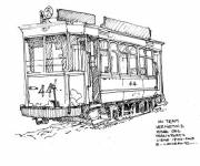 Coloring pages Old tram