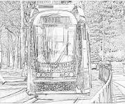 Coloring pages Realistic tram