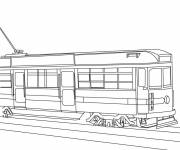Coloring pages Stylized tram