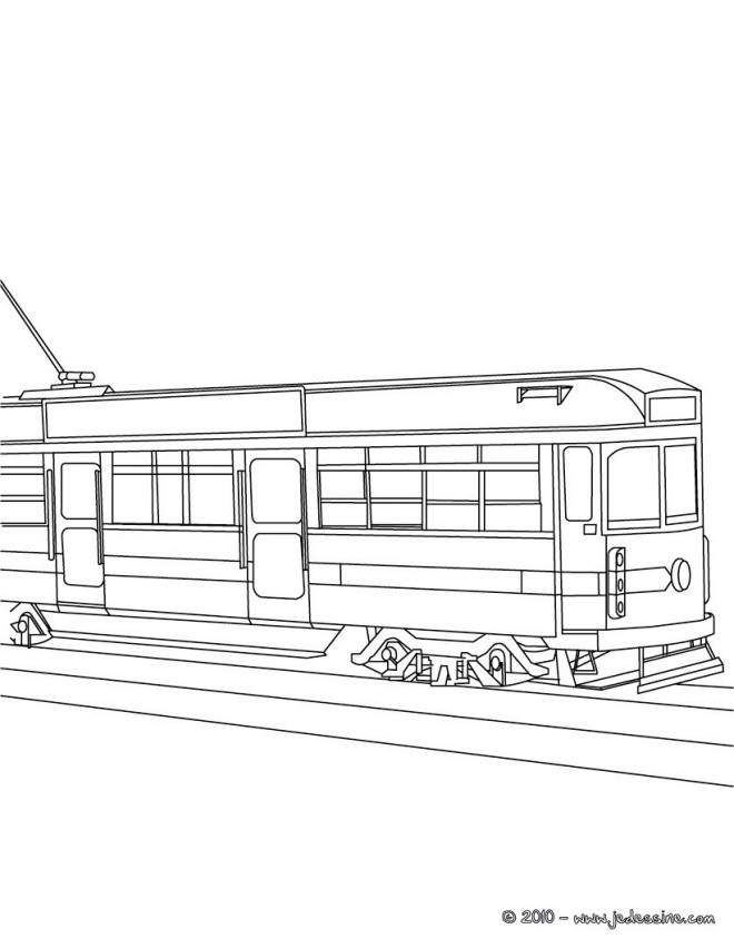 Free printable Tramway coloring pages
