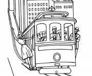 Coloring pages Tramway
