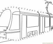 Coloring pages Tram to be completed