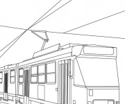 Coloring pages Tramway duplex