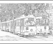 Coloring pages Tramway image