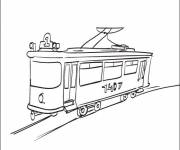 Coloring pages Tramway online