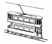 Coloring pages Two-story tram