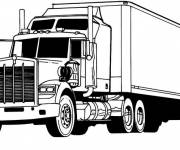 Coloring pages A Transport Truck