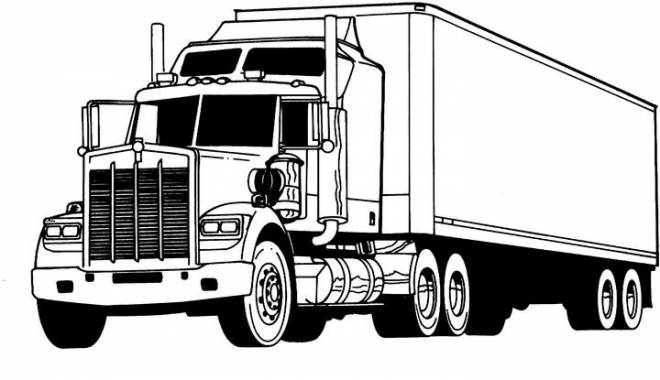 Free coloring and drawings A Transport Truck Coloring page