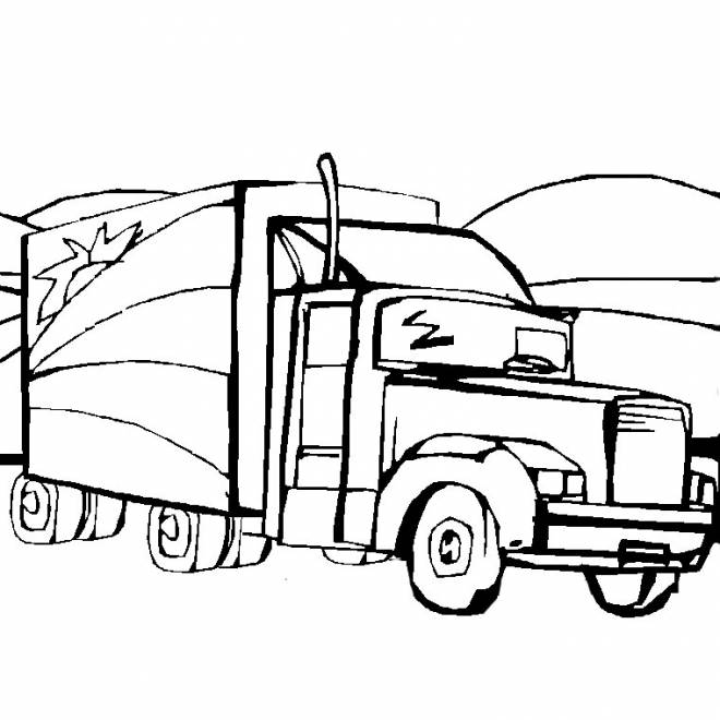 Free coloring and drawings American freight truck Coloring page