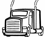 Coloring pages American Truck Head