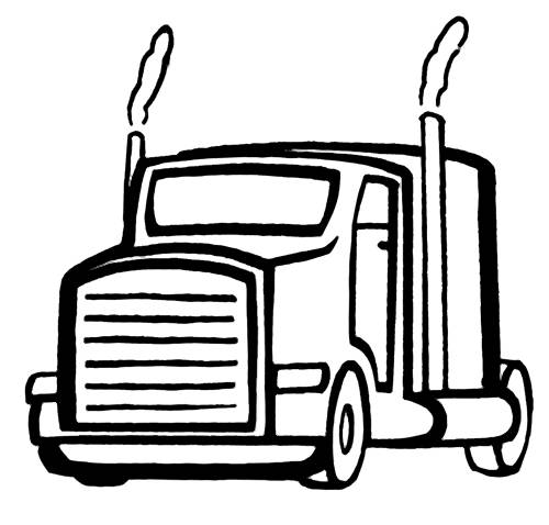 Free coloring and drawings American Truck Head Coloring page