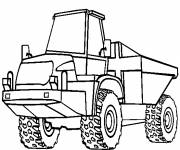 Coloring pages An agricultural tractor
