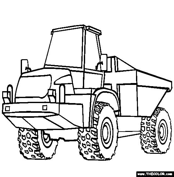 Free coloring and drawings An agricultural tractor Coloring page