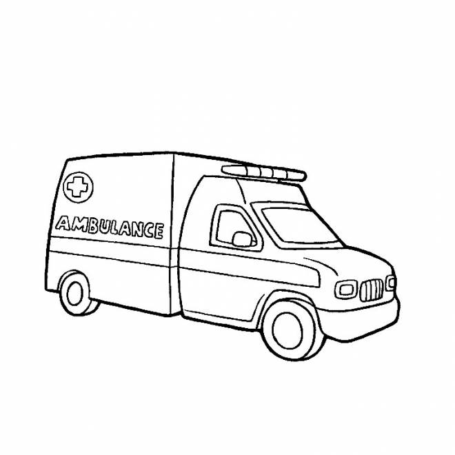 Free coloring and drawings An ambulance Coloring page