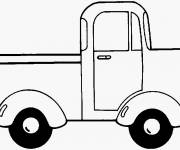 Coloring pages An Easy Pickup Truck