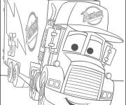 Coloring pages Cartoon mack truck