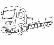 Coloring pages Easy Scania Truck Drawing
