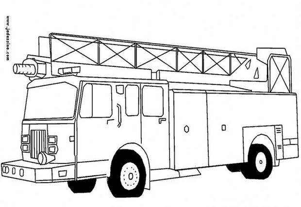 Free coloring and drawings Fire truck coloring Coloring page