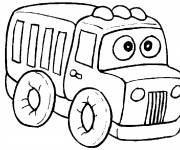Coloring pages Funny truck