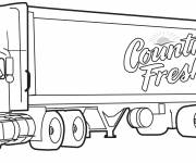 Coloring pages Image of Trailer truck