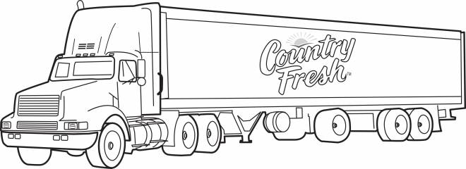 Free coloring and drawings Image of Trailer truck Coloring page