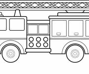 Coloring pages Large scale fire truck