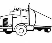 Coloring pages Oil truck