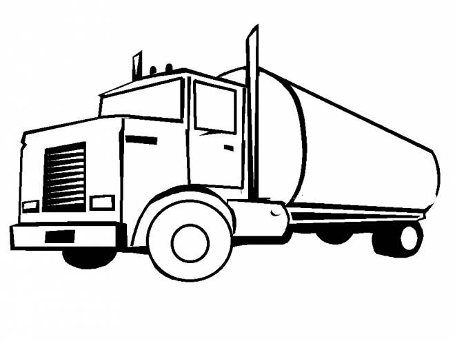 Free coloring and drawings Oil truck Coloring page