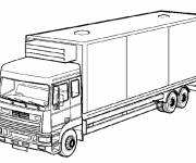 Coloring pages Simple semi-trailer truck
