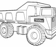 Coloring pages Tonka 10 wheel truck