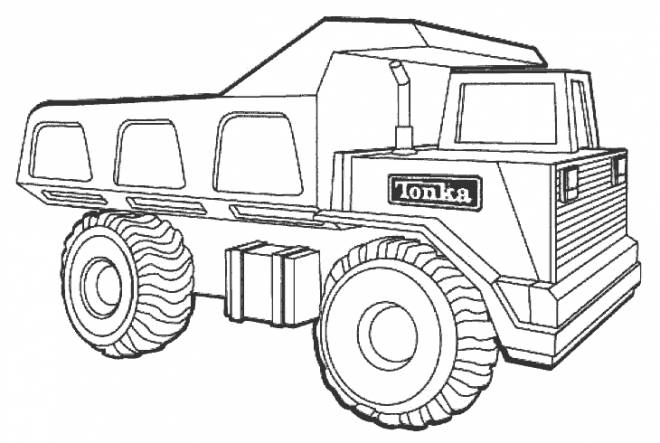 Free coloring and drawings Tonka 10 wheel truck Coloring page