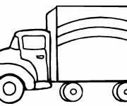 Coloring pages Truck in vector