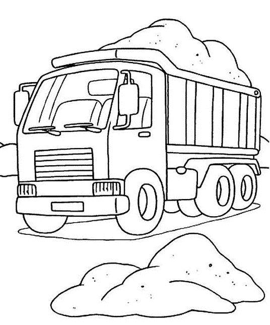 Free coloring and drawings Truck online Coloring page