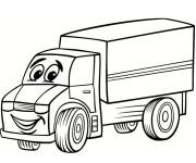 Coloring pages Truck that smiles