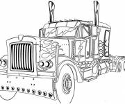 Coloring pages Truck with style