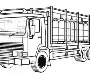 Coloring pages Vector semi trailer truck