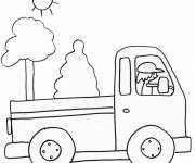 Free coloring and drawings A pencil truck Coloring page