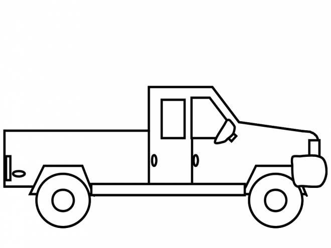 Free coloring and drawings A small stylized Pickup Coloring page