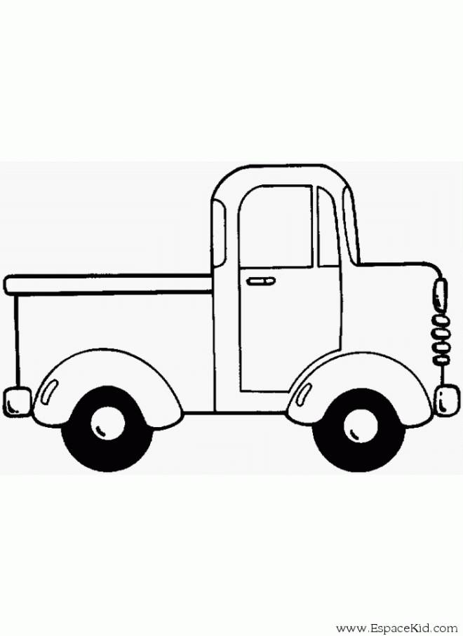 Free coloring and drawings A van to decorate Coloring page