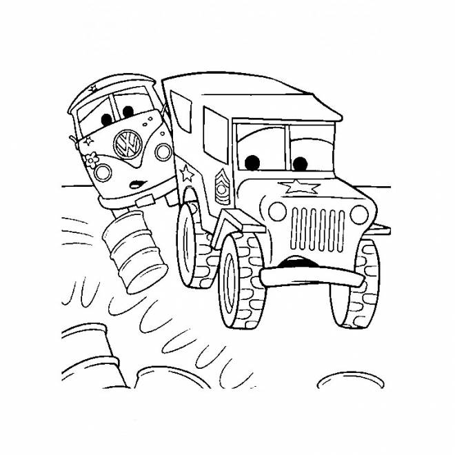 Free coloring and drawings Flash Mcqueen Truck Coloring page