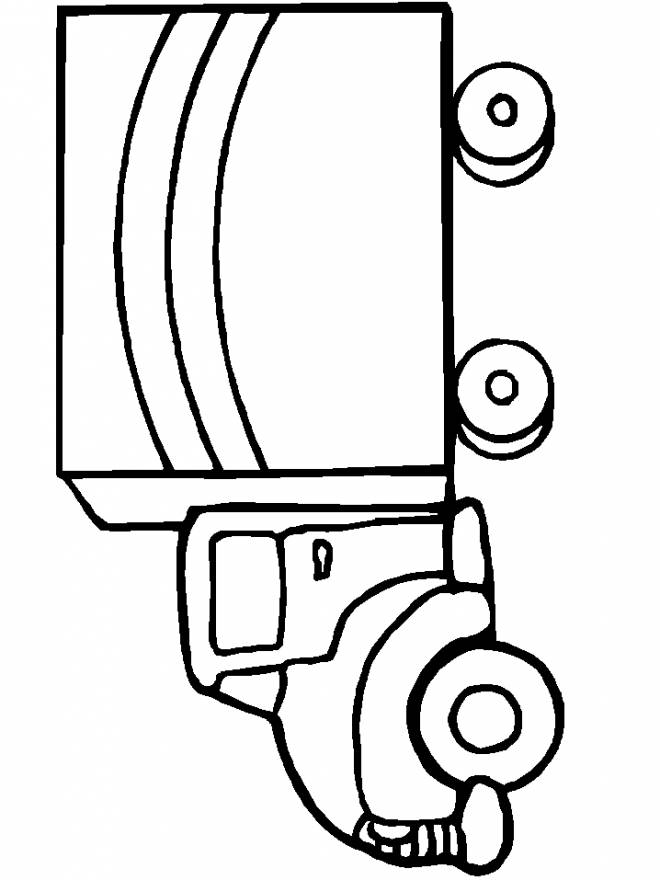 Free coloring and drawings Pickup and cars Coloring page